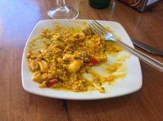 Paella as eaten in Malaga Spanish Dishes, Malaga, Paella, Macaroni And Cheese, Europe, Eat, Ethnic Recipes, Food, Mac Cheese