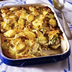 Kartoffelgratin mit Lauch und Speck Rezept | LECKER