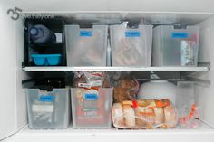 freezer organization with itso containers