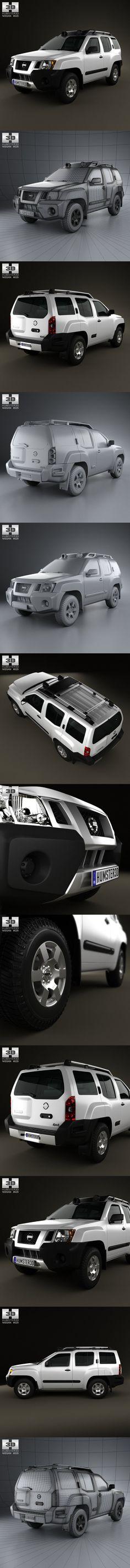 Nissan Xterra 2012. 3D Vehicles