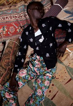 Fernando Cabral by Nicolas Coulomb & Georgia Pendlebury  Photography Nicolas Coulomb  Styling Georgia Pendlebury  Modeling Fernando Cabral @ MGM  Assistant Chloé Cohen  Art direction Florence Tétier  All clothes: Dries van Noten socks: Falke  Shot at Galerie Chevalier http://www.galerie-chevalier.com/