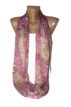 Infinity scarf  summer Fashion scarfLoop scarfpurple by seno, $15.00
