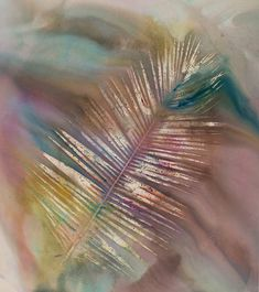 Sam Falls, Untitled (Venice, Palm 5), 2014, Dye on canvas, 81 x 72 in. Courtesy of the artist.