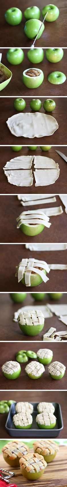 Apple Lattice Pies
