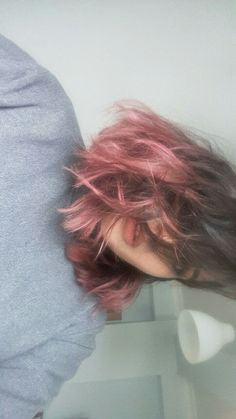 Pink ombre hair brown #pink #ombre #brown #hair