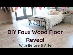 EXTREME BEDROOM MAKEOVER part 3 || DIY FAUX WOOD FLOORING || AT HOME WITH JILL MINIMALIST - YouTube Faux Wood Flooring, Organising, Homemaking, Minimalist, Bedroom, Youtube, Diy, Furniture, Home Decor