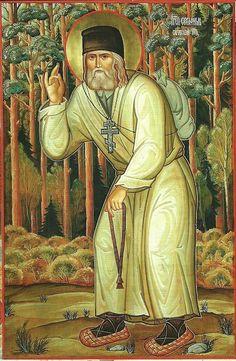 Saint Seraphim of Sarov / Преподобный Серафим Саровский, чудотворец
