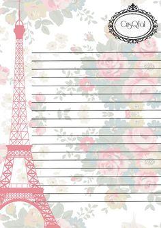Papel de carta- Paris