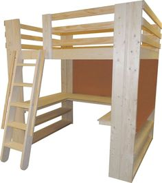 Bedroom Makeovers using Loft Beds by College Bed Lofts Custom built full size - $1600