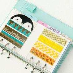 Dokibook Muti-Functional Straight Tape Packing Plate Loose-leaf Cartoon Transparent Kawaii  Bookmark Planner DIY Accessories