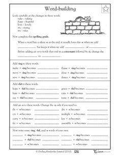 Printables Writing Worksheets For 4th Grade complex sentences comprehension and language on pinterest in this arts worksheet your child gets practice creating spelling words by adding