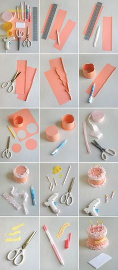 DIY Paper Birthday Cake Box Pictures, Photos, and Images for Facebook, Tumblr, Pinterest, and Twitter