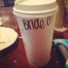 Don't forget to get  starbucks for the bride on their wedding day! Make them write bride :) maid of honor duty. If you get an extra nice barista they may give it to you on Starbucks dime.