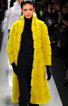 The Chado Ralph Rucci Fall 2013 Ready-to-Wear Collection is Textural trendhunter.com l Hope this is fake fur