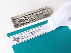 """4"""" x 1"""" Return Address Rubber Stamp for customizing masking tape 