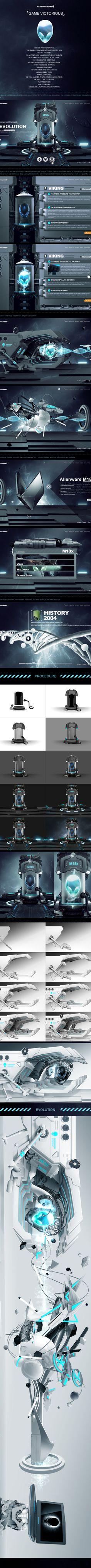 Alienware_Evolution by wei geng, via Behance