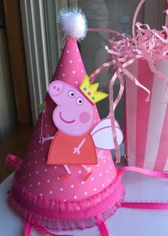 NEW Peppa Fairy Pig Birthday Hat by mlf465 on Etsy