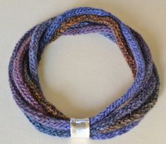 Crocheted icord necklace in various colours with by GreekGirlsRule, €16.00