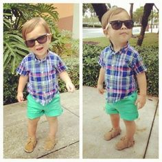 Stinkin adorable. Can't wait to get my little guy in some shorts this spring.
