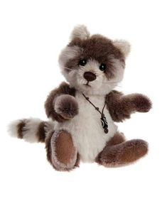 Charlie Bears Minimo Collection 2015 Pitter Patter Racoon