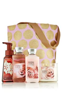 Warm Vanilla Sugar Ultimate Fragrance Fan Gift Set - Signature Collection - Bath & Body Works
