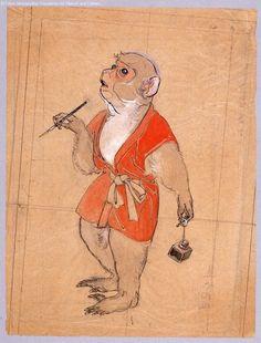 Monkey. ArtistKawamura Kiyoo, about 1900, Japan