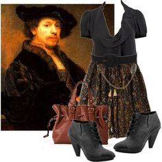 Rembrandt inspired outfit. Paintings inspiring outfits- I need to try this sometime.