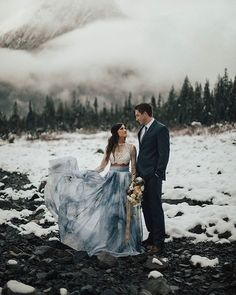 A Winter Elopement in an Ice Cave! - Green Wedding Shoes - Ice Cave Elopement Inspiration at the Big Four Ice Caves in the Pacific Northwest // blue tie dye s - Winter Wedding Inspiration, Elopement Inspiration, Winter Elopement Ideas, Style Inspiration, Elope Wedding, Dream Wedding, Wedding Dresses, Snow Wedding, Elopement Wedding