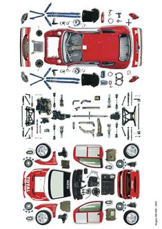 Peugeot 206 WRC - 2003 - spare parts - ©Bruno des Gayets Peugeot, Auto Spares, Car Logos, Spare Parts, Infographic, Posters, Icons, Drawings, Model Airplanes
