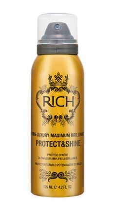 Beauty Couture - RICH Haircare's Pure Luxury Maximum Brilliance Protect & Shine has so far been a wonder! Its left my hair shiny and soft after using the irons, instead of straw like and singed.