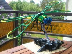 Fun animated dragonfly in LEGO
