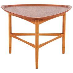 Kurt Ostervig Triangular Teak Coffee Table for Jason Møbler 1