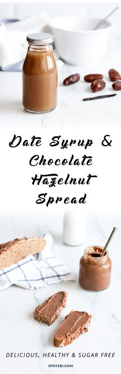 Quick and Easy Homemade Date Syrup and Healthiest Chocolate Hazelnut Spread Recipe! https://www.spotebi.com/recipes/date-syrup-chocolate-hazelnut-spread-recipes/