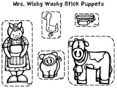 Mrs. Wishy-Washy Flip Book FREEBIE {Works with ANY Wishy