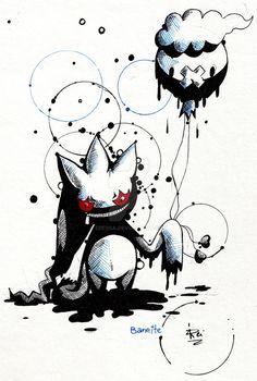 Banette - Fth Gen Pokemon by eREIina.deviantart.com on @DeviantArt