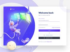 Tipe Login astronaut login register sign in signin signup technician landing mars moon monitor cat spaceship space galaxy illustration Portfolio Web Design, Portfolio Website, Website Home Page, Landing Page Inspiration, Youtube Cats, Dancing Cat, Login Page, Welcome Back Sign, Web Layout