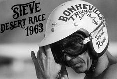 One day with Steve.Steve takes off in a blaze of smoke and sand in the first race of the day.Mojave Desert, 1963.
