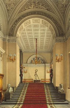 Winter Palace. The Personal Entrance to the Apartment of Empress Maria Alexandrovna - Konstantin Andreyevich Ukhtomsky.