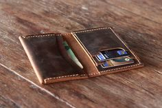 Breast Pocket Wallet Leather Wallet Handmade Leather by JooJoobs