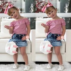 By far the most cute seeking newborn baby bones outfit, see all the facts like p j's, whole body lawsuits, bibs, plus much more. Baby Girl Pants, Baby Girl Romper, Cute Baby Girl, Little Girl Fashion, Little Girl Dresses, Kids Fashion, Outfits Niños, Kids Outfits, Cute Toddler Girl Clothes