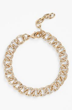 Love a classic link bracelet with shiny pave crystals.