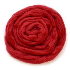 Red Merino Wool Combed Top - DHG Organic - Fire #merinoroving #spinningrove #woolferspinning #feltingwool #wooltop #woolroving #australianmerino Nuno Felting, Needle Felting, Drop Spindle, Sources Of Fiber, Wool Felt, Spinning, Merino Wool, Weaving, Vibrant