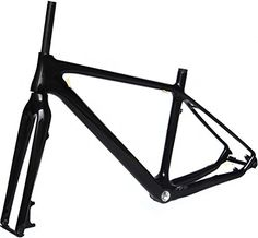 Full Carbon Glossy 26er Mountain Bike MTB BSA Cycling Frame And Fork 19' ** You can get more details by clicking on the image.