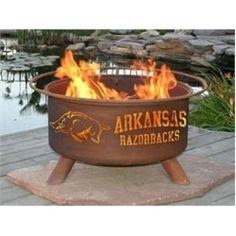 University of Arkansas Razorback Portable Steel Fire Pit Grill