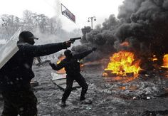 After months of peaceful protests, the streets of Kiev descended into violence this week as police and demonstrators clashed. Jan. 2014