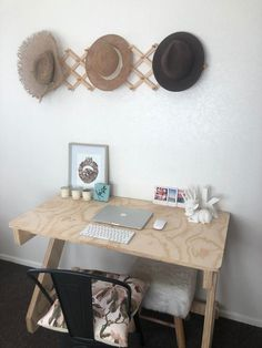 Make working from home a breeze with The Katie Desk. Under 5 minutes to assemble NZ Made desk. Radiata Pine or White HPL. Lengths 900 |1200 | 1500. Heights 720 | 780. Room Design Bedroom, Room Ideas Bedroom, Bedroom Decor, Uni Room, Cute Room Ideas, Aesthetic Room Decor, Room Accessories, Dream Rooms, Room Inspiration