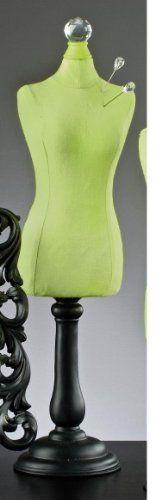 "Dress Form Mannequin Body 19"" Green w 4 Pins Display Manequin Manikin New NE | eBay"