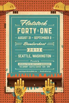 ADORE THIS!!! Reason enough for me to want to go to Bumbershoot: DKNG Studios » Flatstock 41 Seattle