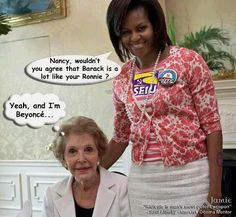 WHY ruin a perfectly good picture of our BEST First Lady....NANCY REAGAN?????