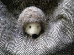 hedgehog pin made to order OOAK Party favor childrens by mirtilio, $9.50